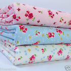 Per half metre/fat quarter  DITSY FLORAL fabric pink  blue & ivory 100 % cotton