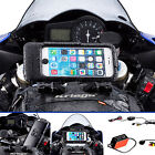 Powered Motorcycle Fork Stem Extended Mount + Waterproof Case for iPhone 6 Plus