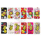 For Samsung Phones Cute Smile Flip Synthetic Leather Card Wallet Case Cover #B2