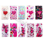 Patterned Synthetic Leather Love Butterfly Card Purse Slim Case Cover For Phones