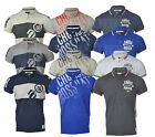 Mens Crosshatch  Short Sleeved Tipped Cotton Mix  Pique Polo T Shirt