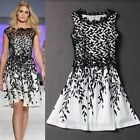 Vintage LACE Short Sexy Women Formal Sleeveless Cocktail Party Bridesmaid Dress