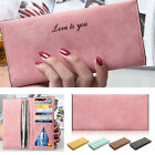 New Womens PU Leather Wallet Clutch Long Purse Handbag Soft-leather UK Seller