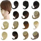 Clip In On Womens Straight Side Bangs Fringe Hair Piece Hair Extension 16 Colors
