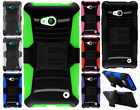 For Nokia Lumia 640 Hybrid Combo Holster KICKSTAND Rubber Case Cover Accessory