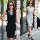 Summer Women Ladies Sleeveless Sequined Bodycon Club Party Mini Dress Work Wear