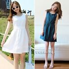 Korean Summer Women Cocktail Party Cute Sundress Slim Casual Mini Flared Dress