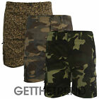 Mens Brand New Camouflage Camo Shorts Mens 100% Cotton Cargo Combat Baggy Shorts