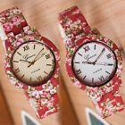 Rose Tree Watch Printing Alloy Watch Girl Accessory 2 Background Color Gum Metal
