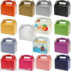 Children's Birthday Colour Wedding Party Favour Card Gift Food Lunch Boxes PS