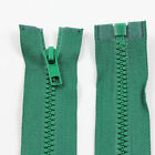 GREEN 10'' - 32'' INCH CHUNKY NO.5 OPEN END ZIPS: 12 SIZES PLASTIC ZIPPER NZ1269