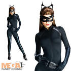 Deluxe Catwoman Ladies Fancy Dress Dark Knight Batman Superhero Womens Costume