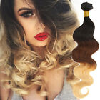 "150g Ombre Real Human Hair Extensions 12""-30""Body Wave 1b/33/27# 6A Hair Weaving"