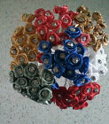 12 diamante / diamonte ribbon rose wired favour flowers - choice of 21 colours
