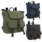 Mens Crosshatch Designer Cotton Rucksack Unisex Travel Large Size Backpack