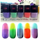 1Pc 6ml Temperature Change Colour Fashion Multicolor Nail Polish Thermal Polish