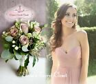 BNWT ELSA Dusky Pink Chiffon Strapless Prom Bridesmaid Maxi Dress UK 6 - 18
