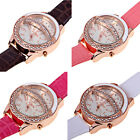 Women Watch with Diamond Decoration Stars and Moon Pattern Round DialKWEUM