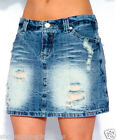 New GIRLS Denim Ripped Skirt Kids Party Jean Skirts Summer Blue Age 8-14 Years