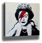 BANKSY QUEEN GRAFFITI STREET ART HIGH QUALITY MODERN CANVAS PRINT WALL DECOR