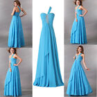 UK SUMMER Chiffon Homecoming Beaded Formal Long Cockatil Dress Bridesmaid Dress