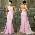 Women's Long Lace Bridesmaid Evening Pageant Party GRAD Formal Gown Prom Dresses