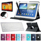 Rotating PU Leather Case Bluetooth Keyboard For Galaxy Note 10.1 2014 Edition