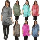 New Womens Italian Layering 3 Piece Lace Scarf Womens Tunic Dress Size 12 to 18