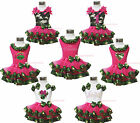Hot Pink Camouflage Top Shirt Trimmed Petal Skirt Girl Clothing Outfit Set NB-8Y