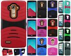 For LG G4 HYBRID Hard Gel Rubber KICKSTAND Protector Case Phone Cover