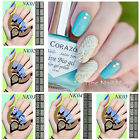 12 Tips/Sheet DIY Nail Art Manicure Stencil Nail Vinyls Easy Use Stickers Decals