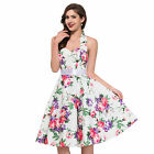Housewife Vintage RETRO FLORAL 40's 50's Pinup Swing Dots Prom Dress