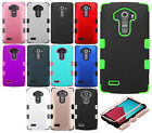 For LG G4 Rubber IMPACT TUFF HYBRID Case Skin Phone Cover +Screen Protector