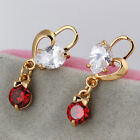 Fashion Beautiful Crystal Rhinestone Gold Plated Stud Earrings Colorful Jewelry