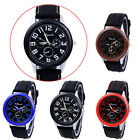 Fashion Silicone Strap Casual Concise Sport Quartz Wrist Watch Unisex Watch