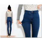 Ladies Women High Waist Jeans Skinny Pants Tight Plus Size Stretchy Pencil Pants