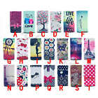 For Samsung Top Fashion Patterned Universal Faux Leather Card Pouch Case Cover#A