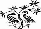 NEW TRIBAL BIRD  #TAN1/131  DECAL  VINYL GRAPHIC   CAR  SUV VAN LEAVES BRANCH