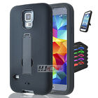 For LG Leon SERIES Hybrid Hard Rubber w T Stand Case Cover Colors