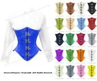 26 Full Double Steel Boned Waist Training Satin Underbust Corset #8033-OT-MC(SA)