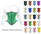 26 Full Double Steel Boned Waist Training Satin Underbust Corset #8033-BT-MC(SA)