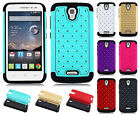 For Alcatel OneTouch Pop Astro HYBRID IMPACT Dazzling Diamond Case Phone Cover