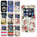 Smart Window View Vintage Stand Flip Wallet Leather Case Cover For Apple iPhone
