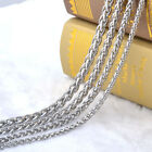 """18-36"""" MENS Stainless Steel Wheat Braided Chain Necklace 3/4/5/6/7/8mm"""