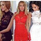 New Women Short Slim Sexy Bodycon Party Cocktail Evening Lace Dress Clubwear HOT