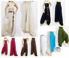 VERY LONG HAREM PANTS- JUMPSUIT BEACH CHIC - SUMMER WEIGHT