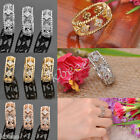 Fashion Happiness Hollow Four Leaf Clover Cubic Zirconia Lucky Finger Ring us5-7