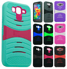 Samsung Galaxy Grand Prime Hard Gel Rubber KICKSTAND Case Phone Cover Accessory