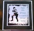 Handmade Personalised Birthday Card Rugby Brother Son Father Friend ANY AGE