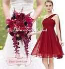 BNWT EVE Knee Length Cranberry Red Chiffon Bridesmaid Occasion Dress UK 6 -18